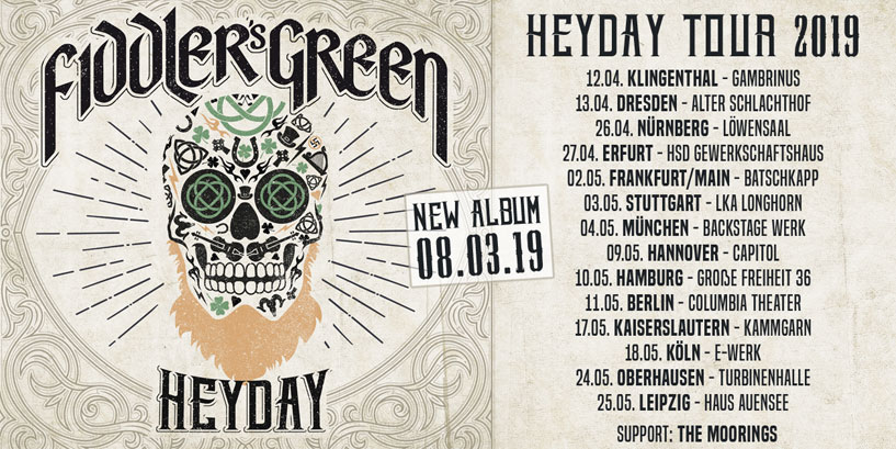 HEYDAY - new album and tour!
