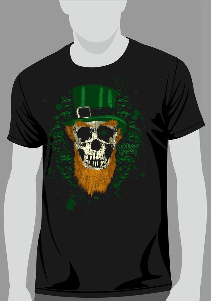 61cc1d4c39dc T-Shirt IRISH SKULL - SHEPHERD S JUMBLE - FIDDLER S GREEN ONLINE SHOP